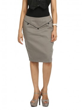 Grey Piping Skirt