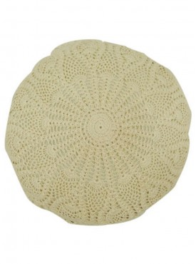 Round Crochet Cushion Covers