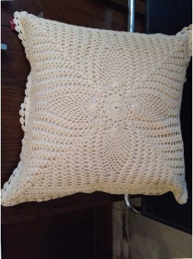 Cushion Cover In White Color