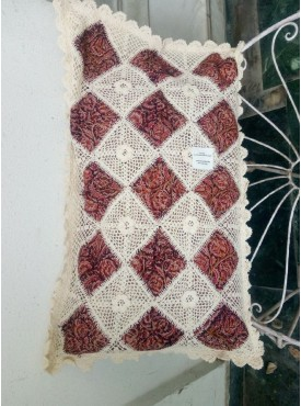Handmade Linen Lace Pillow Covers