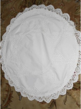 Round Cushion Cover In White  Color