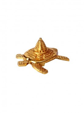 Satyamani Gold Plated Meru Yantra on Tortoise