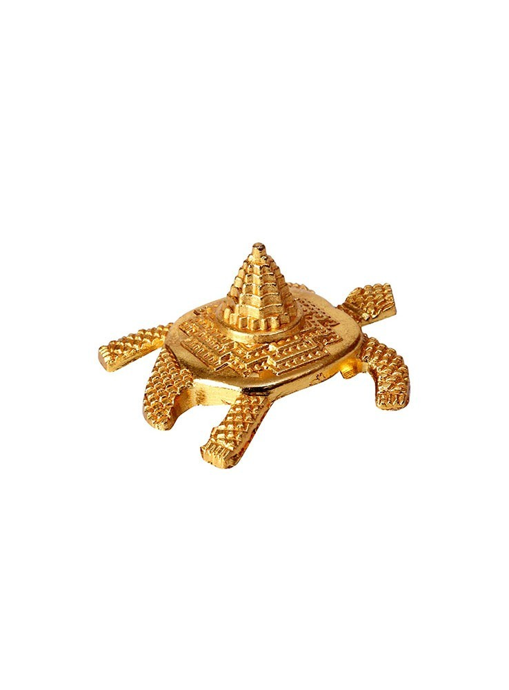 Gold Plated Meru Yantra on Tortoise | Acchajee