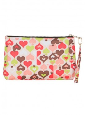 Cappuccino 22054 Pink-Multi Cosmetic Pouch