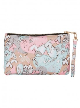 Cappuccino 22055 Light Blue Cosmetic Pouch