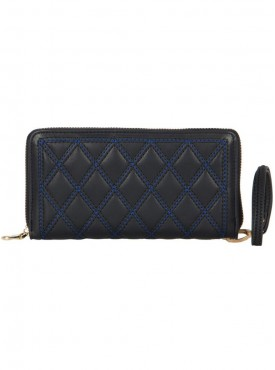 Cappuccino 23017 Black,Blue & Tan Wallet