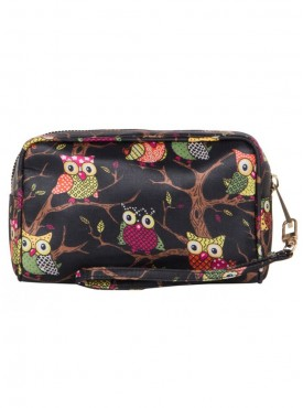Cappuccino 22069 Black & Red Cosmetic Pouch