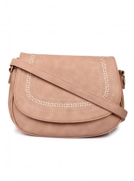 Cappuccino 26004 Peach, Grey & Brown Sling Bag