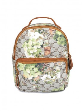 Cappuccino 26008 Beige, Grey & Multi Backpack