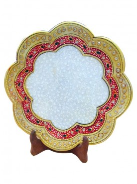 Decorative Marble Flower Shaped Plate