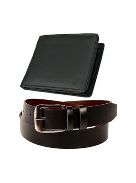 Jack Klein Combo of Leather Belt And Wallet