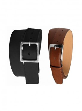 Jack Klein Pack of 2 Different Color Leather Belt For Men