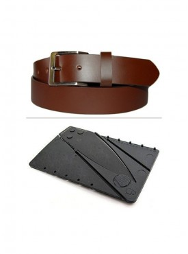 Jack Klein Combo of Leather Belt And Credit Card Knife