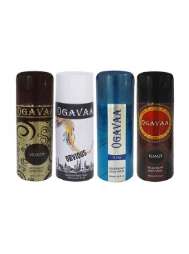 Good Fragrance Pack Of 4 Ogavaa Deodorants For Men