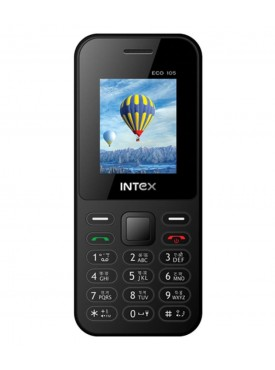 Intex Eco 105 (Dual Sim,Black)