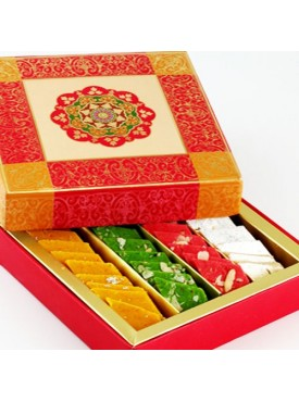 Ghasitaram Pink Assorted Katlis Box