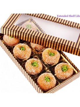 Gold and Brown Mathura Peda Box