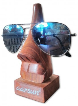 Aarsun Handcrafted Nose Shaped Wooden Spectacle