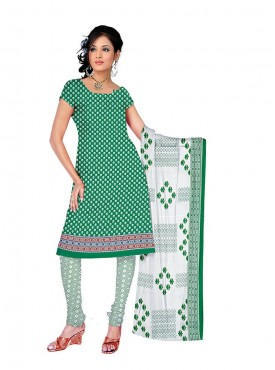 Rama Green - White Color Suit
