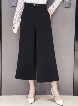 All Match Fashion Wide-leg Loosen Cropped Casual Pants