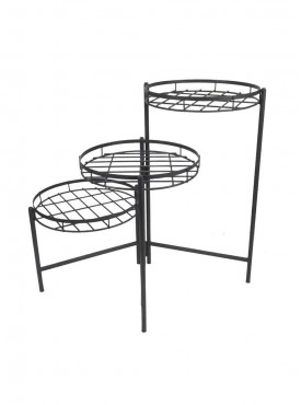 Golmaalshopmild Steel Wire 3 Tier Plant Stand Zinc Finish