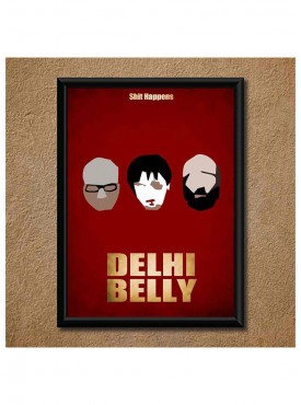 Delhi Belly Wall Poster (With Frame)