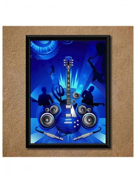 Hard rock music Wall Poster (With Frame)