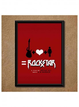 Rockstar Wall Poster (With Frame)