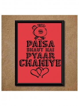 Funny Punch Lines Wall Poster (With Frame)