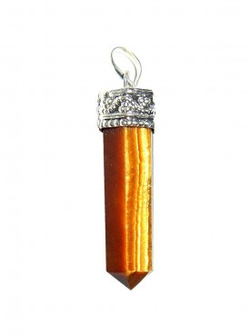 Tiger Eye Pencil Pendant Kavach