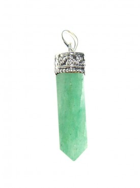 Light Green Aventurine Pencil Pendant Kavach