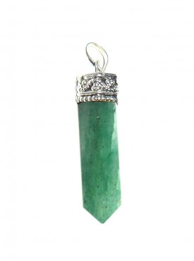 Green Aventurine Pencil Pendant Kavach