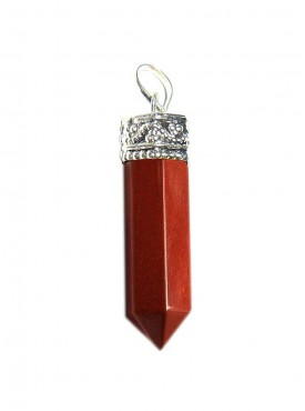 Red Jasper Pencil Pendant Kavach