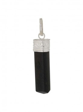 Natural Healing Black Tourmaline Pendent - Pencil