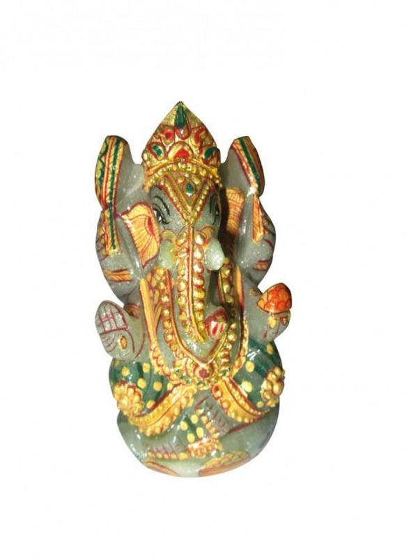 ByCue Green Gemstone Painted Ganesh