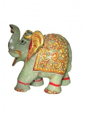 ByCue Green Gemstone Painted Elephant