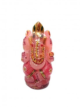 ByCue Rose Quartz Painted Ganesha