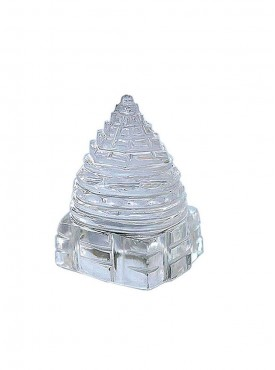ByCue Pure Crystal Quartz Shree Yantra - 6.8 Gms