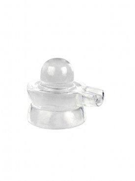 ByCue White Crystal Shivling