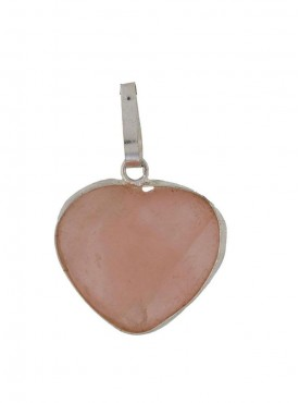 ByCue Natural Rose Quartz Pendent - Heart