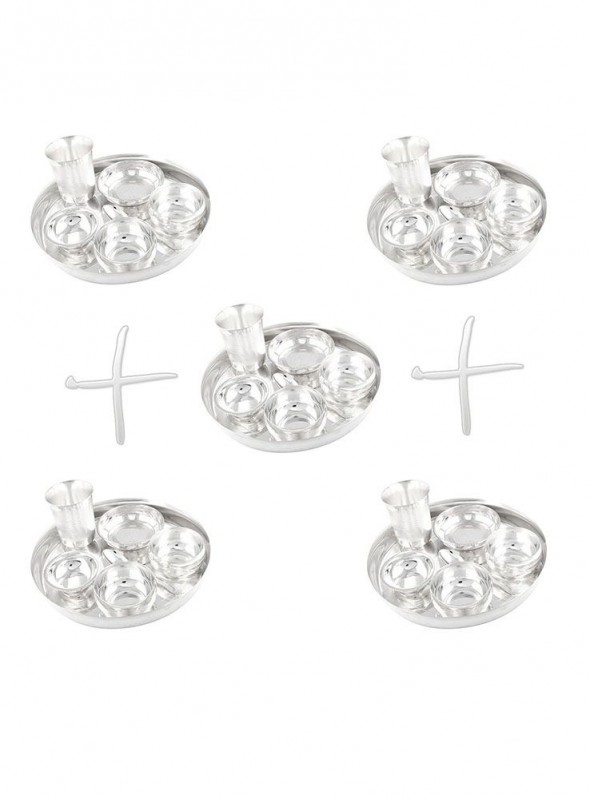 GSM Silver Plated 5 Dinner Set (Size-25 CM)