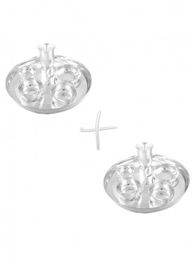 GSM Silver Plated 2 Dinner Set (Size-30 CM)
