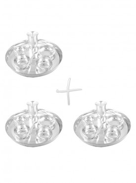 GSM Silver Plated 3 Dinner Set (Size-30 CM)