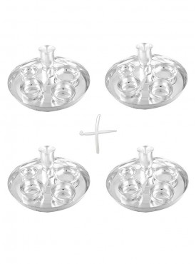 GSM Silver Plated 4 Dinner Set (Size-30 CM)