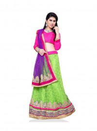 Aasvaa Amazing Women Embroidered Jacquard Lehenga Choli