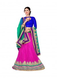 Aasvaa Appealing Women Embroidered Jacquard Lehenga Choli