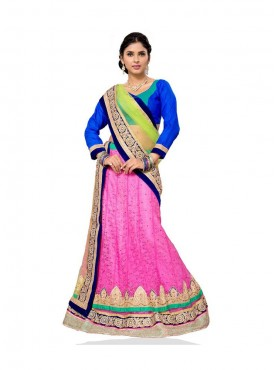 Aasvaa Attractive Women Embroidered Jacquard Lehenga Choli