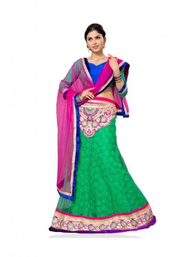 Aasvaa Beautiful Women Embroidered Jacquard Lehenga Choli