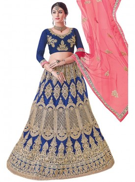Aasvaa Amazing Women Embroidered Net Lehenga Choli