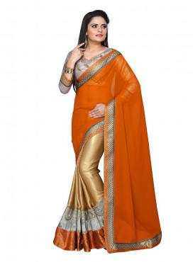 Tulsi Mantra Satin Goregate Saree